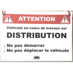 Panneau prévention DISTRIBUTION