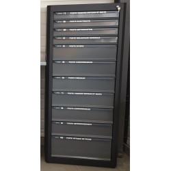 Meuble de rangement vertical 11 tiroirs