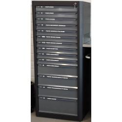 Meuble de rangement vertical 14 tiroirs