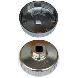 Cloche filtre à huile 74 mm - 14 cannelures