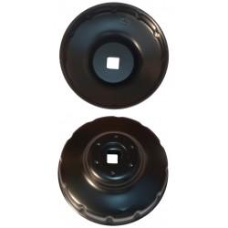 Cloche filtre à huile 76 mm - 12 cannelures