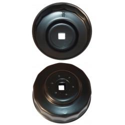 Cloche filte à huile 76 mm - 14 pans