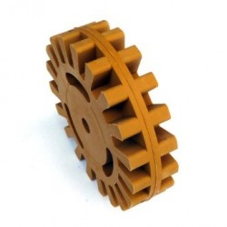Roue gomme 25 mm
