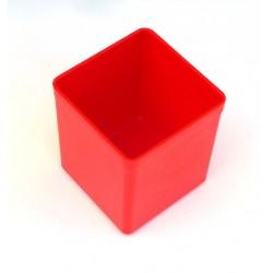 Lot de 2 boites de rangement 54x54 rouge