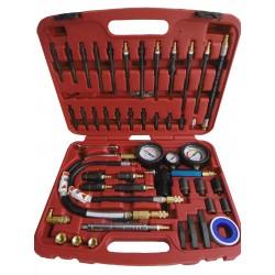 Coffret compressiomètre Diesel avec embouts et adaptateurs.