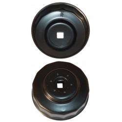 Cloche filtre à huile diam 80 / 15 pans pour véhicule Asiatique