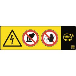 Plaque de signalisation pour balise